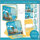 Land Ho 5 Inch 2 in 1 Easel & Square Cards