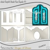 Arched Gatefold Stacked Card Template #1