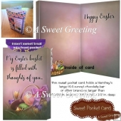 Easter Basket Filled With Thought Of You Large Candy Bar Card