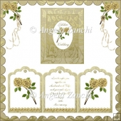 GOLDEN WEDDING TRI-CARD WITH DISPLAY BOX