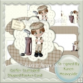 Golfer Scalloped Shaped Rocker Card