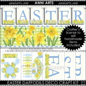 Easter Daffodils Decorating Craft Kit