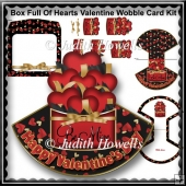 Box Full Of Hearts Valentine Wobble Card Kit