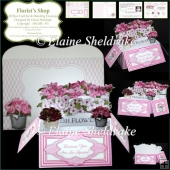 Florist's Shop - 3D Pop Up Box Card Kit & Matching Envelope