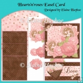 Hearts'n'roses Easel Card & Decoupage