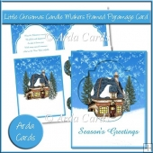 Little Christmas Candle Makers Framed Pyramage Card