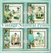Vintage Nautical Collage Soap Advertising Powder Room Prints