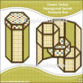 GreenTartan Hexagonal Secret Treasure Box