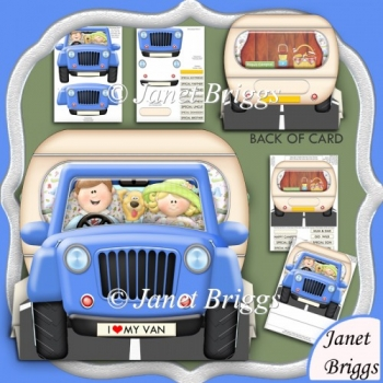 Caravan & Jeep 3D Shaped Tent Card & Decoupage Kit
