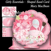 Girly Essentials - Shaped Easel Card