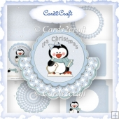 Christmas penquin rocker card set