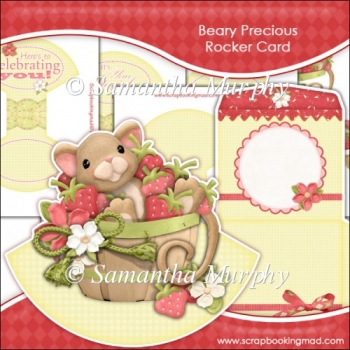 Beary Precious Rocker Card Download