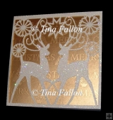 Quick, Easy and Pretty Reindeer Card multi formats cut file