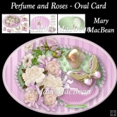Perfume and Roses - Oval Card