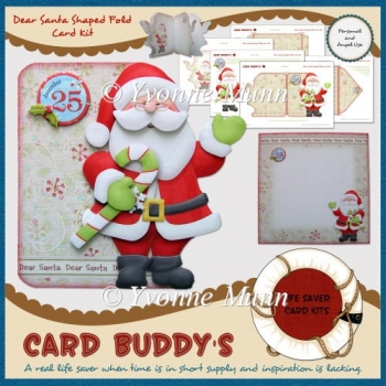 Dear Santa Shaped Fold Card Kit