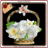686 White Flower Basket HAND and MACHINE Formats