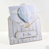 BABY BOY ENVELOPE POCKET CARD