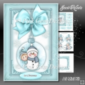 Baby Boy Snowman Bauble Mini Kit