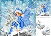 WISHING YOU A VERY MERRY CHRISTMAS, Christmas blue winter faerie