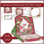 Christmas Wreath Easel Card With Drawer