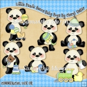 Little Panda Bears Baby Boy ClipArt Graphic Collection
