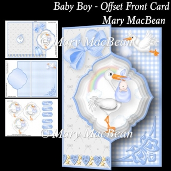Baby Boy - Offset Front Card