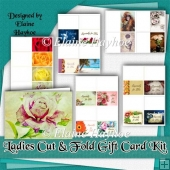 Ladies Cut and Fold Gift Card Kit