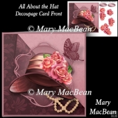 All About the Hat - Decoupage Card Front