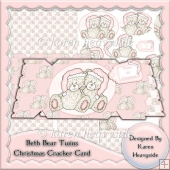 Beth Bear Twins Christmas Cracker Card
