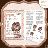 JJ1 Coffee Saves Lives 2020 A4 Calendar & Decoupage Humorous Kit