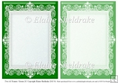2 x A5 Green (3) Lace Frames for Card Making & Scrapbooking