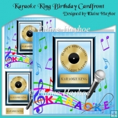 Karaoke King Birthday Cardfront