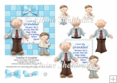 Grandson To Granddad Square Card Topper With Decoupage