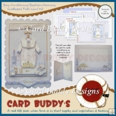 Boy Christening/Baptism/Naming Scalloped Fold Card Kit