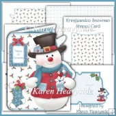 Kringleandco Snowman Shaped Card