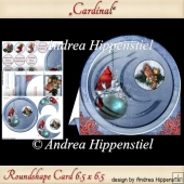 Round shape Card cardinal