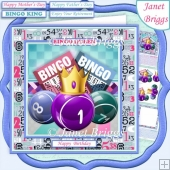 BINGO QUEEN OR KING 7.5 Decoupage & Insert Mini Kit