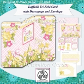 Daffodil Tri Fold 3D Decoupage Card and Envelope Kit