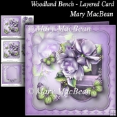 Woodland Bench - Layered Card
