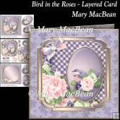 Bird in the Roses - Layered Card