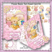 Flower Bears Tent Easel Card Kit