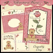 Valentine Rose Curved Top Card