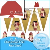 Christmas Girl Fan Card
