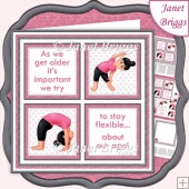 HUMOROUS YOGA SQUARES 7.5 Quick Layer Card & Insert Kit
