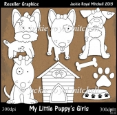 My Little Puppys Girls Colour Your Own Reseller Clipart