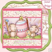 ONE CUTE CHICK Easter 7.5 Decoupage & Insert Kit