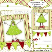 Large Square Frame CardTree-mendous Christmas(Retiring in August