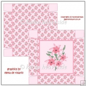 Pretty In Pink Floral 5.5 Square Box