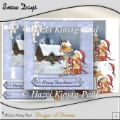 Snow Days Decoupage Card Front/Topper