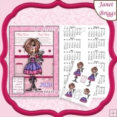 JJ 3 Wine 0 Clock 2020 A4 Calendar With Decoupage Humorous Kit